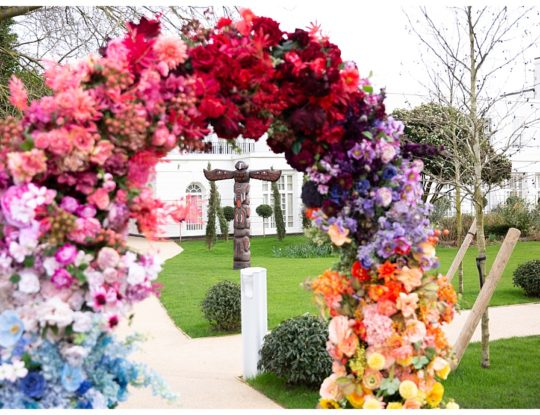 flower arch for birthday party in London